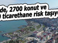 Rize'de, 2700 konut 1500 ticarethane risk taşıyor!