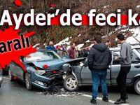 Ayder'de 2 araç kafa kafaya çarpıştı: 8 yaralı