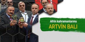 Afrin kahramanlarına Artvin balı