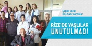 Rize'de yaşlılar unutulmadı