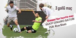 Rizespor, hazırlık maçında Dinamo Batum'u ağırladı