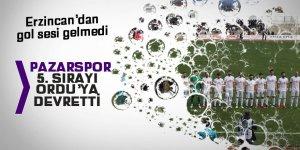 Pazarspor 5'inci sırayı Ordu'ya kaptırdı