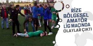 Çayelispor ile Ardeşengücü maçında olaylar çıktı