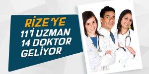 Rize'ye 11'i uzman 14 doktor kadrosu açıldı