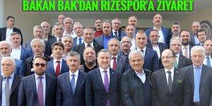 Bakan Bak'dan Rizespor'a ziyaret