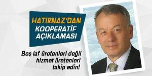 Pazar Tarımsal Kalkınma Kooperatifi Başkanı Hatırnaz'dan açıklamalar