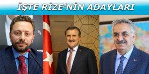 Rize Milletvekili adayları belli oldu