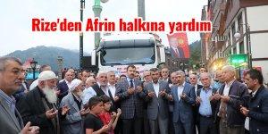 Rize'den Afrin halkına yardım