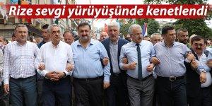Rize, Erdoğan'ın arkasında Kaçkar Dağları gibi dik duracak