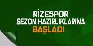 Rizespor, sezon hazırlıklarına başladı