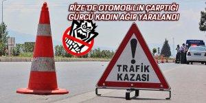 Otomobilin çarptığı Gürcü kadın ağır yaralandı