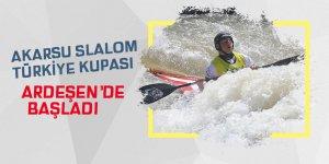 Akarsu Slalom Türkiye Kupası Ardeşen'de başladı