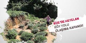 Rize'de sel köy yolunu ulaşıma kapattı