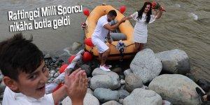 Raftingci Milli Sporcu nikâha botla geldi