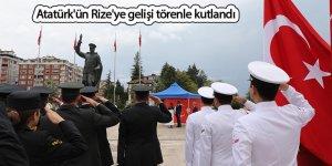 Atatürk'ün Rize'ye gelişi törenle kutlandı