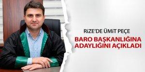 Rize Baro Başkanlığına aday oldu