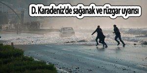 Doğu Karadeniz'de sağanak ve rüzgar uyarısı