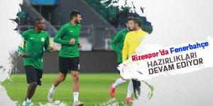 Rizespor, Fenerbahçe maçının hazırlıklarını sürdürdü