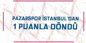 İstanbul'dan bir puanla döndü