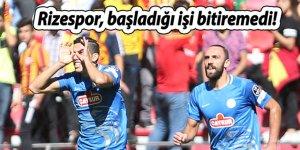 Rize Kayseri'den beraberlikle dönüyor