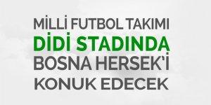 Milli takım Rize'de Bosna Hersek'i ağırlayacak