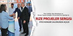 """""""Rize Projeleri Sergisi"""" açıldı"""