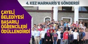 Çayeli Belediyesi başarılı öğrencileri 4. kez Marmaris'e gönderdi