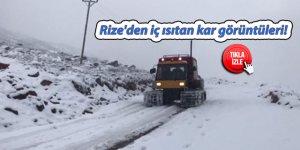 Rize'den iç ısıtan kar görüntüleri