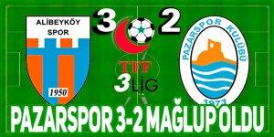 Pazarspor 3-2 mağlup oldu