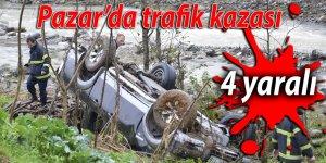Pazar'da trafik kazası: 4 yaralı