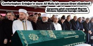 Cumhurbaşkanı Erdoğan'ın dayısı Ali Mutlu için cenaze töreni düzenlendi