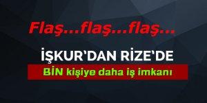 İŞKUR Rize'de 1000 kişiyi daha TYP kapsamında işe alacak