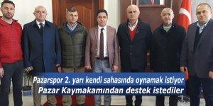 Pazarspor 2. yarı kendi sahasında oynamak istiyor