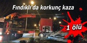 Fındıklı'da korkunç kaza: 1 ölü