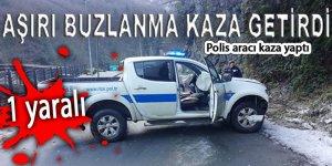 Çamlıhemşin'de BUZ kazası: 1 yaralı