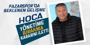 Pazarspor'da hoca görevi bıraktı