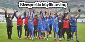 Rizespor'da büyük sevinç