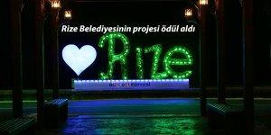 Rize Belediyesinin projesi ödül aldı