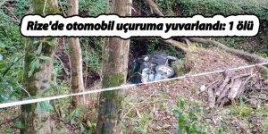 Rize'de otomobil uçuruma yuvarlandı: 1 ölü