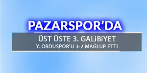 Pazarspor'da üst üste 3'üncü galibiyet