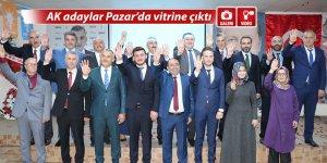 AK adaylar Pazar'da vitrine çıktı
