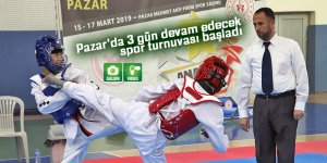 Pazar'da 3 gün devam edecek spor turnuvası başladı