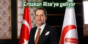Erbakan Rize'ye geliyor