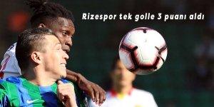 Rizespor tek golle 3 puanı aldı