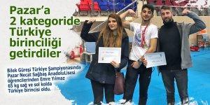 Pazar'a iki ayrı kategoride Türkiye birinciliği getirdi