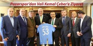 Pazarspor'dan Vali Çeber'e ziyaret