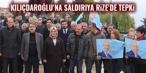 Kılıçdaroğlu'na saldırıya Rize'de tepki