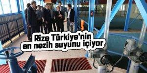 Rize Türkiye'nin en nezih suyunu içiyor