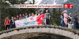 KYK'lı gençlerle Çat'ta doğa yürüyüşü