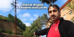 Elektrik direğine Karadeniz usulü çözüm
